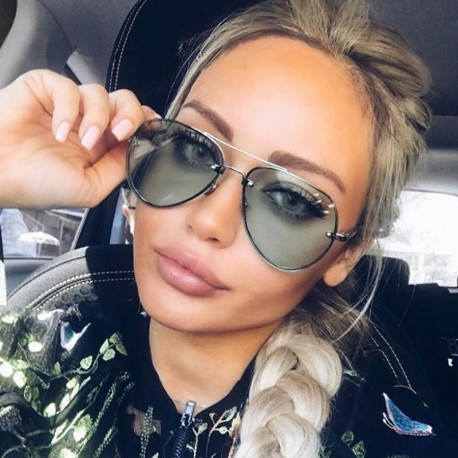 Luxury Aviator Sunglasses Women Brand Designer Men Shades Points Sun Glasses For Female Ladies Sunglass Rimless Oculos De Sol