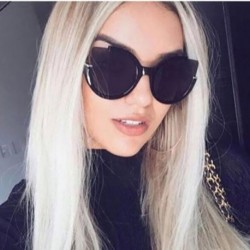 Luxury Cat Eye Sunglasses Women Brand Designer Points Sun Glasses For Women Female Lady Sunglass Vintage Round Sunglasses Mirror
