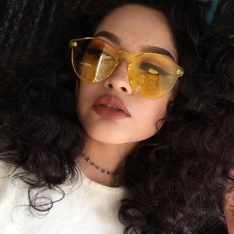 Women Fashion Cat Eye Shades Sunglasses Integrated UV Candy Colored Glasses