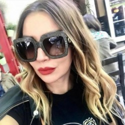 Oversized Square Sunglasses Women Luxury Brand Designer Crystal Decoration Frame Eyewear UV400 ss960