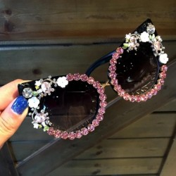 Sunglasses Women Luxury Brand glasses Jewelry Decoration Cat Eyes Sunglasses Vintage Shades Eyewear Oculos