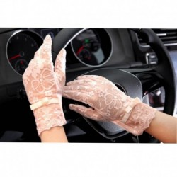 Spring and Summer Women Vintage Sunscreen Sexy Lace Gloves Lady anti-uv Gloves Female driving outdoor Gloves 5 Color