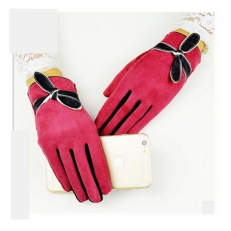 winter Women gloves touch screen warm Ladies gloves fashion Cartoon Gloves For girl Free shipping 5 color