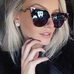 Cat Eye Sunglasses Women Newest Fashion Designer Coating Mirrors Metal Bending Temple Sun Glasses Feminino UV400 WL1004