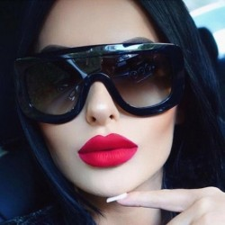 Newest Unique Women Sunglasses Square Glasses Vintage Big Frame Sun Glasses Acetate Shades Gradient Eyeglasses UV400