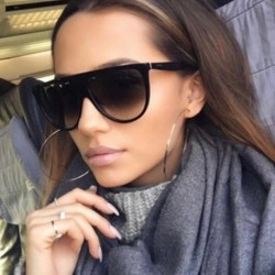 Sunglasses Women Fashion Classic Style Retro Flat Top Acetate Gradient Unique Eyeglasses Female UV400 Oculos De Sol WL1021