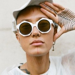 New Fashion Round Sunglasses Women Brand Designer Mirror Glasses Big Frame Eyewear Vintage Sunglasses Summer Style UV400