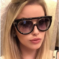 Fashion Black Matte Sunglasses Women Gradient Lens Brand Design Oversize Sun Glasses For Woman uv400 flat top