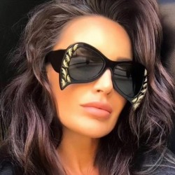 New Strange Bat Sunglasses Women 2018 Fashion Clear Brand Designer Sun glasses For Female  de sol