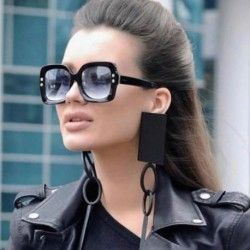 Luxury Italy Oversized Square Sunglasses Women Retro Brand Designer Sun Glasses For Female Ladies Black Eyewear 1175R