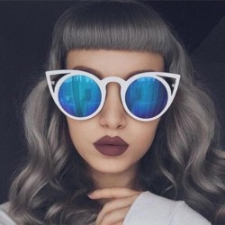 Fashion Cat Eye Sunglasses Women Brand Designer Sun Glasses for Ladies Vintage Oculos UV400 Mirror Colorful-Lens Female R182