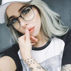 Round Clear Glasses Half Frame Eyeglasses Transparent Glasses Women Cat Eye Clear Glasses Optical Lens Men oculos de grau