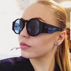 New Ladies Black Round Sunglasses Women Vintage Fashion Oversized Sun Glasses Female Eyewear Brand Designer Shades Retro Eyewear