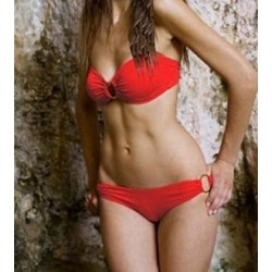 Hot Sale Holiday Sexy Lady Bikini With Shoulder Strap Tops Swimsuit Swimwear M5106