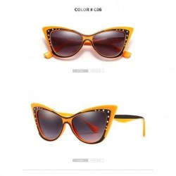2019 Fashion Ladies Sunglasses Luxury Brand Designer Cat Eye Sun Glasses Trend Rhinestone Sunglasses UV400