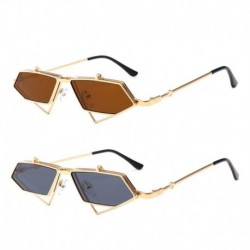 2019 Fashion New Steampunk Flip Up Sunglasses Men Women Vintage Sun Glasses Metal Frame Eyewear Protector Glasses
