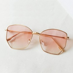 2019 Retro Irregular Sunglasses Women Metal Transparent  Sun Glasses UV400 Oversized Sunglases Eyewear