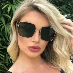 2020 Fashion Square Oversized Sunglasses Women Punk oculos de sol Vintage Big Sun glasses Frame Female Shades okulary UV400