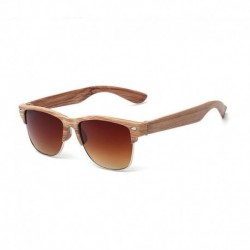 2020 Fashion Wood sunglasses for women men Auti-UV semi rimless Sun Glasses Eyewear half frame sunglass Gafas De Sol