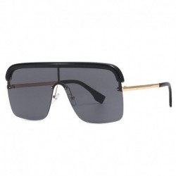 2020 trend classic sunglasses Europe and America retro fashion conjoined big box gradient personality street shooting sunglasses