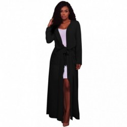 Female Winter Jacket Women Long Sleeve Floaty Open Front Chiffon Cardigan Kimono Coat Loose Casual Solid Lace Up Jacket Jaquetas