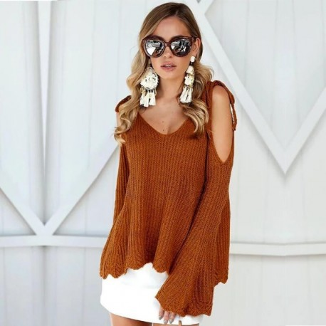 New Autumn Winter Fashion Sweater Women Long Sleeve Off Shoulder Cardigan Long Coat Long Sleeve Knitted Jacket Casual Sweater