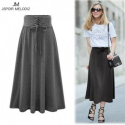 Long Skirt Women Autumn Winter 2017 Fashion Vintage Warm Maxi Skirt High Waist Casual Gown Skirts Lace Up Bandage Skirt Womens 3
