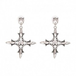 Vintage Baroque Crystal Cross Dangle Earrings Clear orecchini donna Unique Brincos women Girl Gift JUJIA jewelry Wholesale