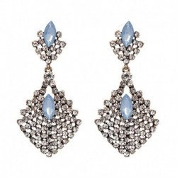 Classic Crystal Drop earrings Vintage Square Dangle Earrings Brincos Statement JUJIA Jewelry wholesale