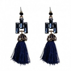 Exaggerate Ethnic Vintage Earrings Long Fringe Earrings Handmade Jewelry Bohemian Tassel Earrings For Women