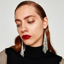 Fashion Punk Style Charm Drop Earrings Women Trendy Boho Style Hanging Tassel Earrings Statement Jewelry Earrings Gift