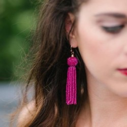 Trendy Charm Bohemia Long Earrings For Women Boho Drop Earrings Dangle Beaded Tassel Earrings Fashion Jewelry 2017
