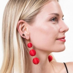 Trendy Chic Brincos Charm Jewelry Balls Dangle Earring For Women Fashion Pom Pom Drop Earrings Accessories