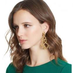JUJIA 2 colors good quality Factory Price Wholesale metal New statement fashion Drop Earrings jewelry wholesale