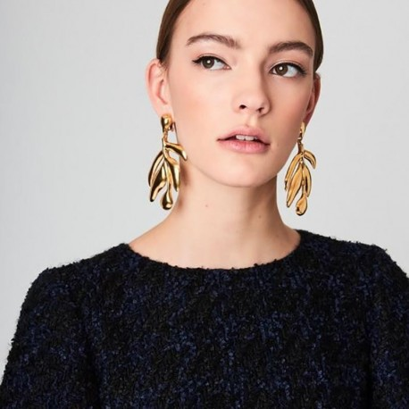 Vintage Statement Fashion Gold Color Leaf Drop Earrings For Women Accessories Earrings Jewelry Brincos