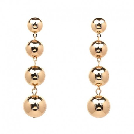 JUJIA 4 tiered balls good quality copper drop features a luxe fashion earrings for women wholesale statement earring