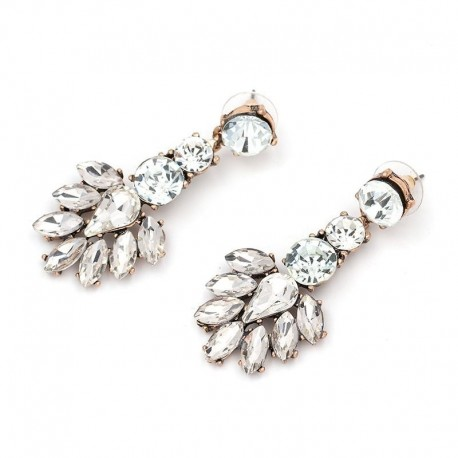 New 2017 good quality fashion hot sale women full crysta vintage statement Earrings for women jewelry wholesale