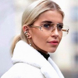 2019 Luxury Designer Women Sunglasses Vintage Rimless Ladies Fashion Sun Glasses New 2019 Summer Shades