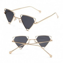 2019 Summer Style Trend triangle personality hollow Sunglasses Men Women Sun Glasses Shopping Party