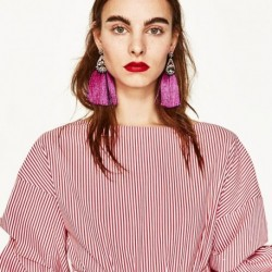 Tassel Earrings For Women Exaggerated Ethnic Bohemia Boho Large Big Long Fringe Tassel Earrings Vintage Statement Jewelry