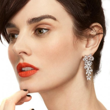 NEW Fashion Brand Earrings CZ Crystal Leaves Stud Earrings for Women Wedding Party Accessories Drop Shipping