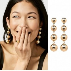 JUJIA 4 tiered balls drop features a luxe fashion earrings for women wholesale earring 7.5 CM