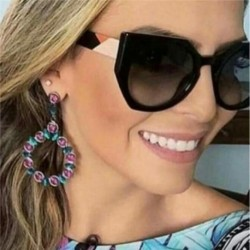 2018 New Oversized Butterfly sunglasses women brand designer Round women's glasses fashion Cat Eye sunglasses ladies UV400