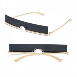2019 Summer Style Fashion Hip Hop Retro Square Ultra Narrow Sunglasses Simple Rimless Sun Glasses Shopping Party