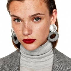 JUJIA 6 colors New statement earrings hand made ribbon drop Earrings for party fashion earring wholesale