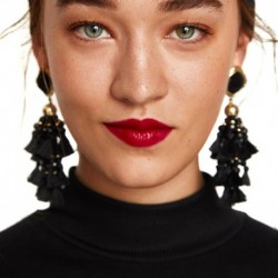 JUJIA Good Quality Tassel DROP EARRINGSS JEWELRY FASHION WOMEN STATEMENT DROP Fringe EARRING WHOLESALE