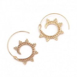JUJIA 2 colors Hoop Earring for Women Brincos Geometric Earrings Steampunk Style Party Jewelry Accessories wholesale