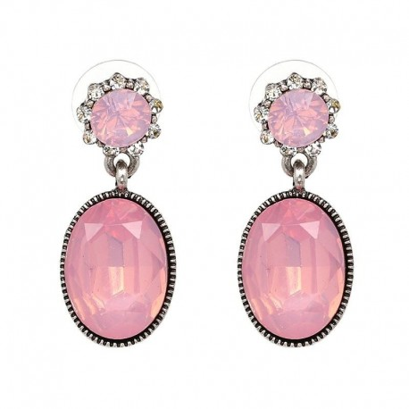 JUJIA 5 colors High quality Wholesale New statement earring fashion crystal stud Earrings for women jewelry lady gift