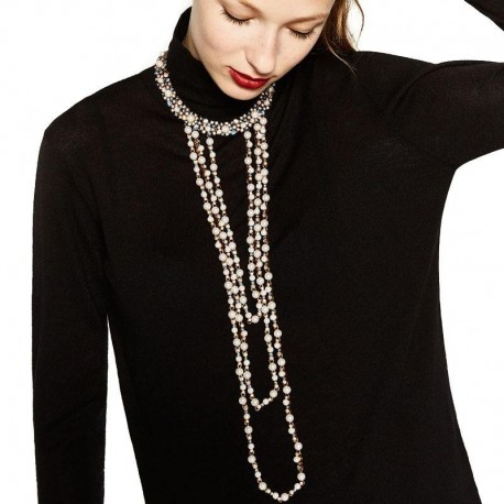 New Z choker necklace fashion necklace costume collar good quality long simulated pearl torques statement necklace