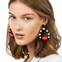 JUJIA 7 colors statement pom pom drop earring Jewelry Hot Selling Elegant Earrings for Women earrings wholesale